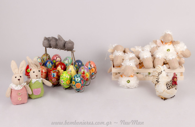 Πασχαλινά ζωάκια & αυγοθήκη