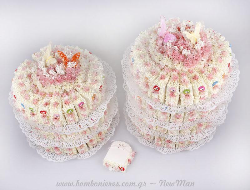 Μπομπονιέρες τούρτες