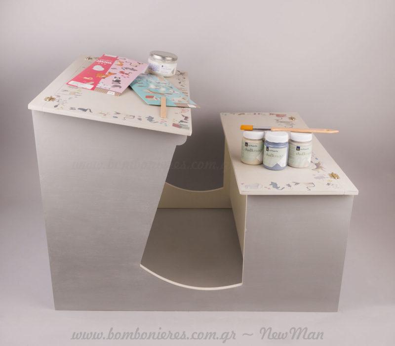 Φτιάχνω το ξύλινο βαπτιστικό κουτί με είδη χειροτεχνίας NewMan