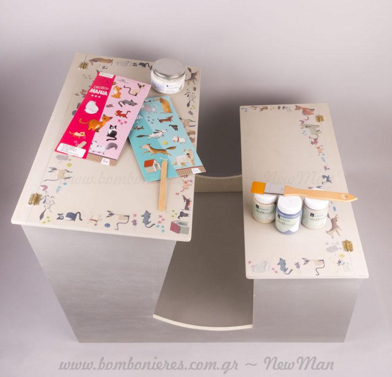 Ιδέα για DIY στολισμό σε βαπτιστικό κουτί