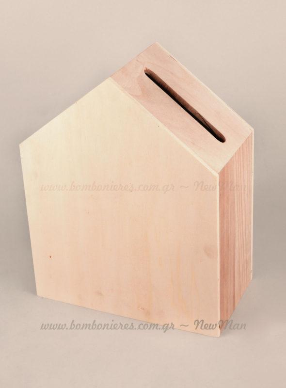 Το κουτί σπίτι με εσοχή αστόλιστο