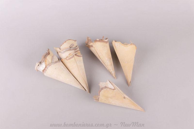 Χωνάκια από φυσικό ξύλο