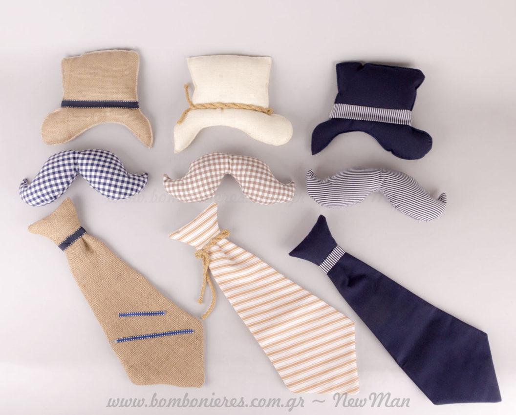 Μουστάκι, Καπέλο, Γραβάτα