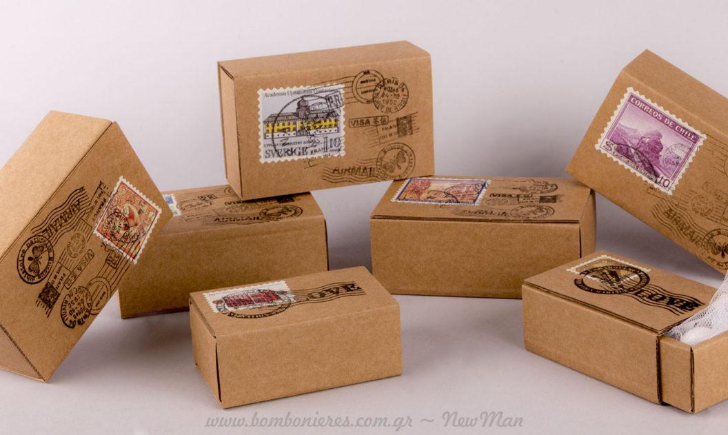 Υλικά μπομπονιέρας θέμα Ταχυδρομικό δέμα