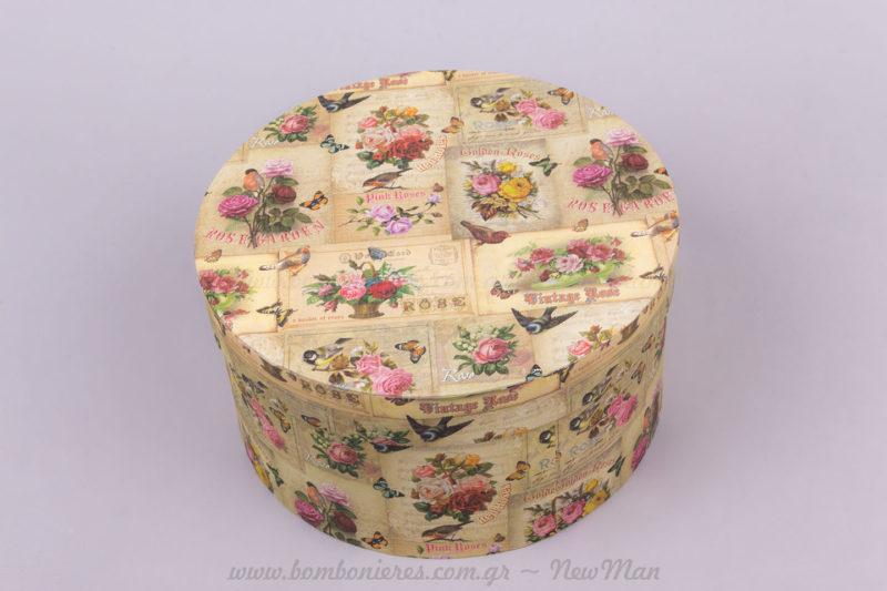 Κουτί vintage σχέδια φλοράλ