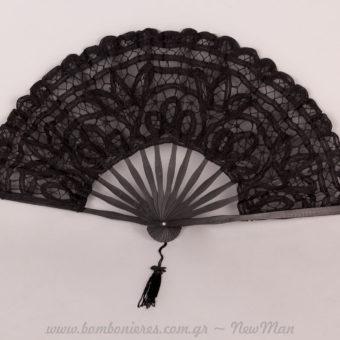 Βεντάλια μαύρη