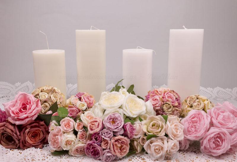 Κεριά για στολισμό γάμου