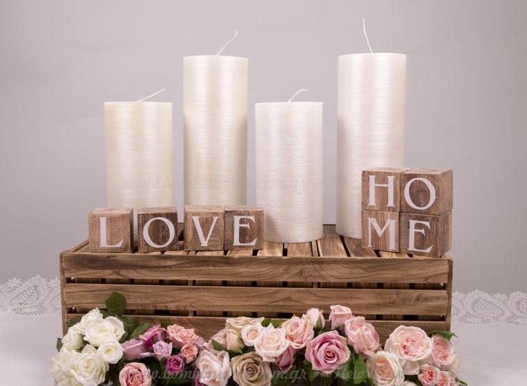 Στολισμός γάμου με κεριά & λουλούδια