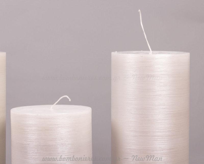 Κερί ξυστό πέρλα λευκό σε 2 μεγέθη
