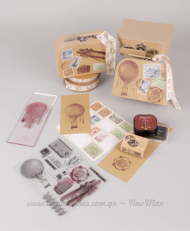 Υλικά & εργαλεία για χειροποίητα χάρτινα κουτιά βαλιτσάκια