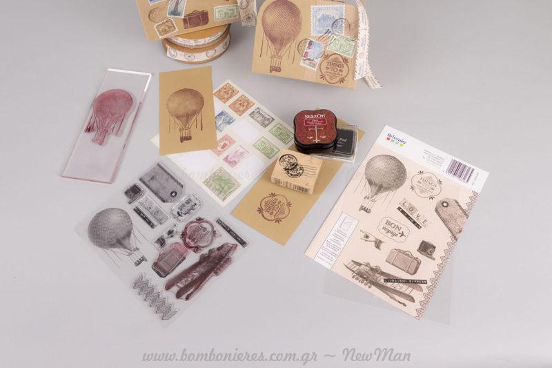 Υλικά χειροτεχνίας σφραγίδες & μελάνια NewMan