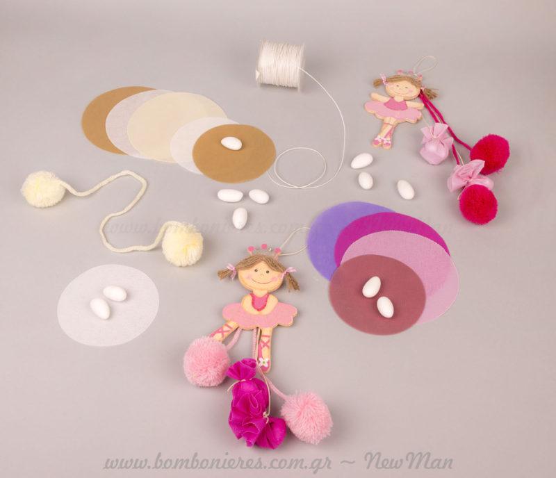 Υλικά για μπομπονιέρες βάπτισης Πριγκίπισσα