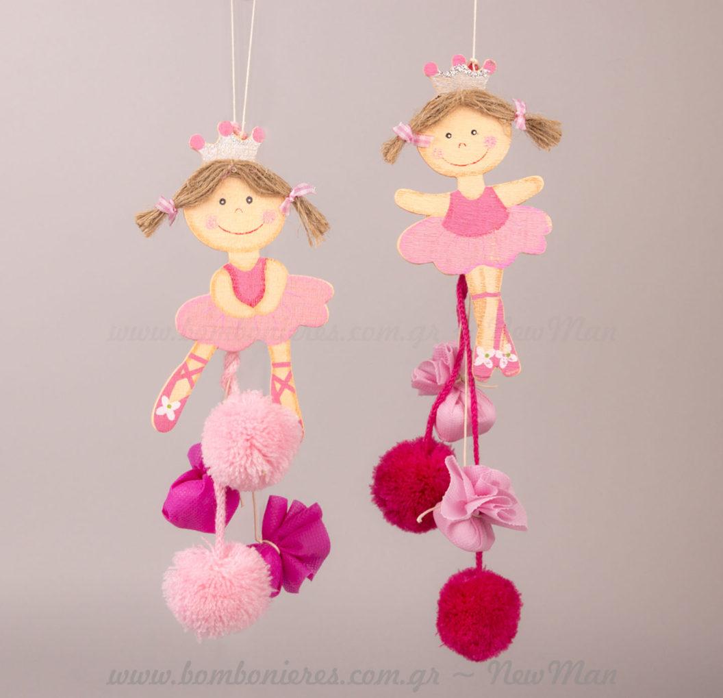 Κρεμαστές μπομπονιέρες Πριγκίπισσες