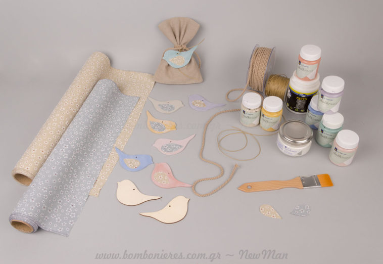DIY με chalk paints & φλοράλ ύφασμα