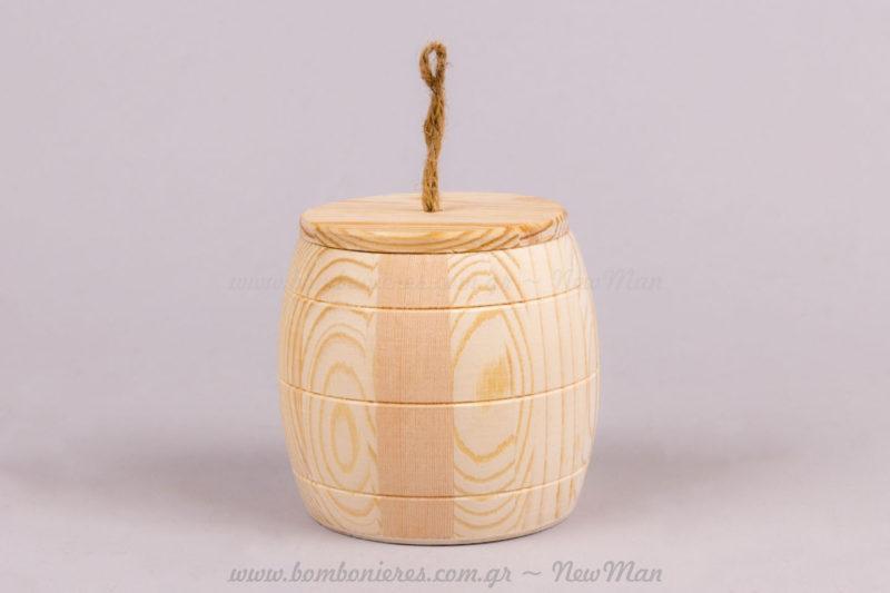 Κουτί βαρέλι με καπάκι
