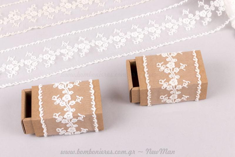 Δαντελένια κουτιά