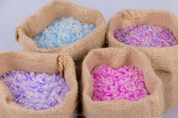 4 χρώματα ρύζι βαμμένο
