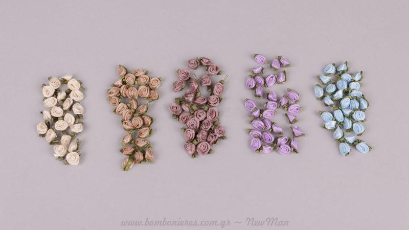 5 χρώματα σατέν τριανταφυλλάκια
