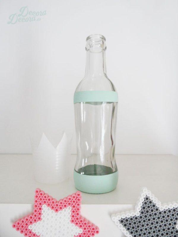 Μπουκάλι γυάλινο με chalk paint