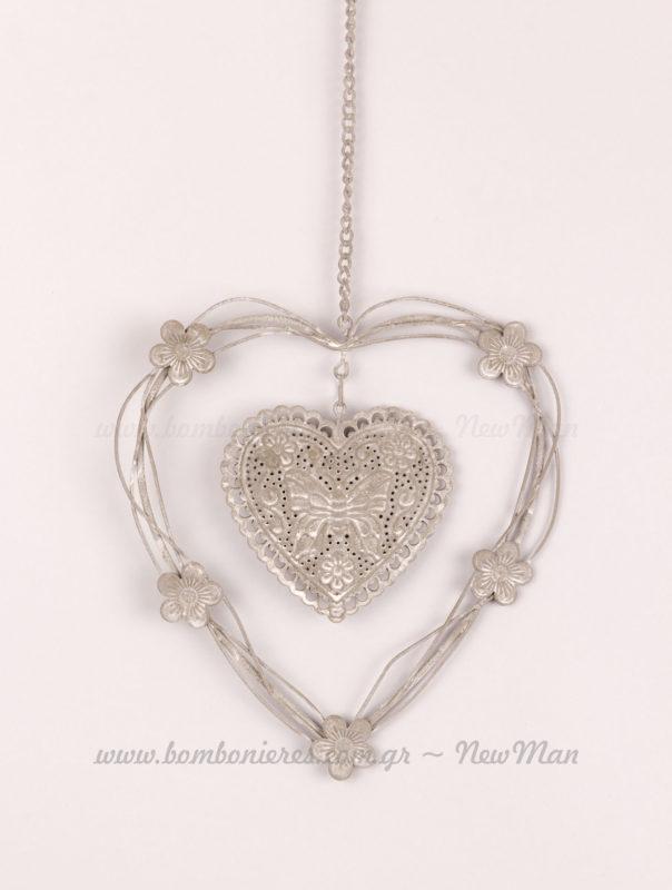Καρδιά μεταλλικό στολίδι 50 εκατοστά