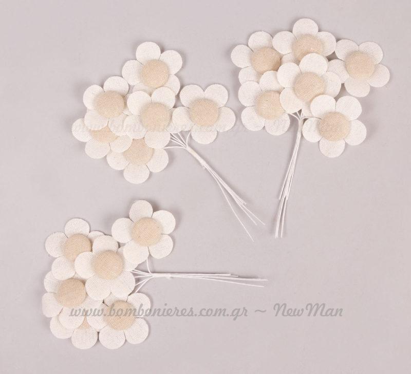 232081 Λουλούδι υφασμάτινο με σύρμα