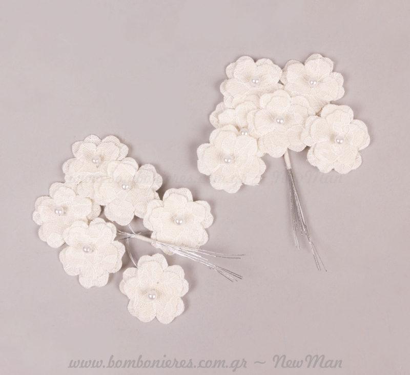 232083 Λουλούδι με πέρλα και σύρμα