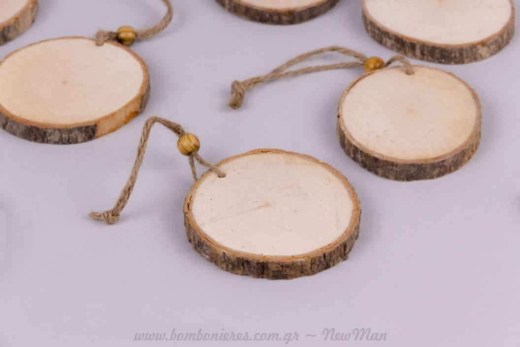 Φέτες ξύλου κρεμαστές 8 & 10cm