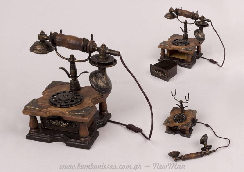 Τηλέφωνο vintage με συρτάρι