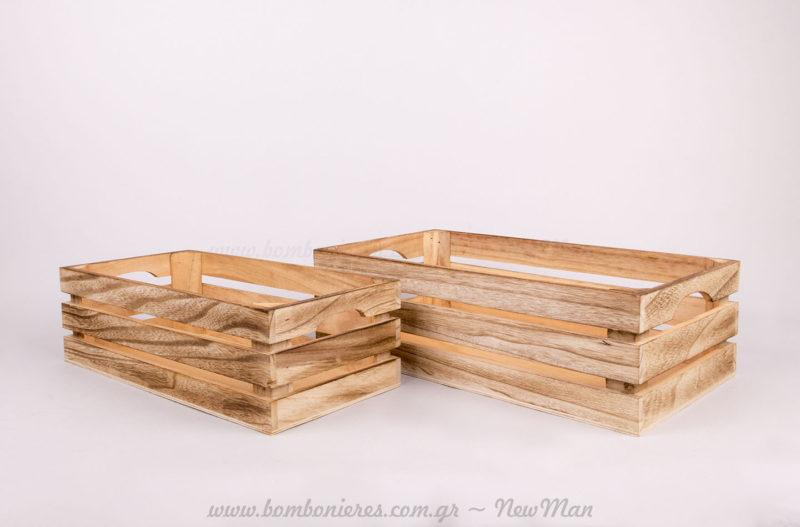 Σετ 2 ξύλινα καφάσια