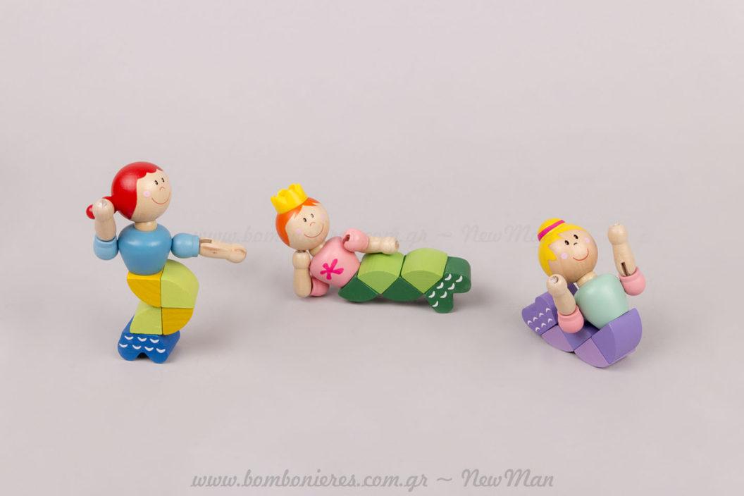 Ξύλινα παιδικά παιχνίδια Γοργόνες!