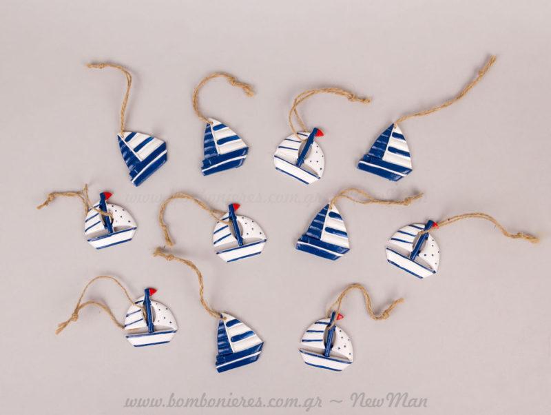 Καραβάκια μπλε κρεμαστά