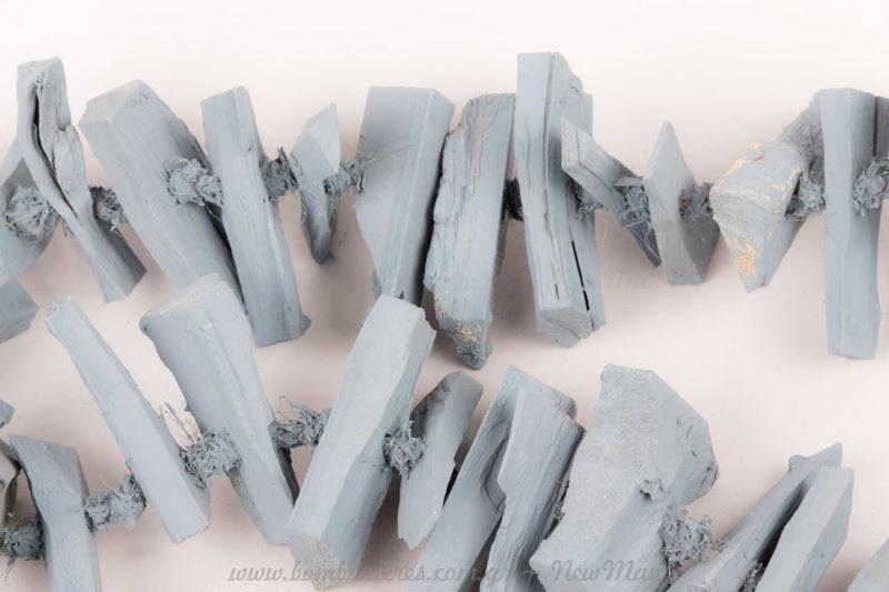 Γιρλάντα ξύλο μπλε 120cm