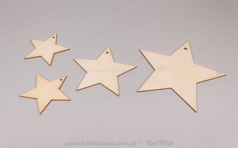 Ξύλινα διακοσμητικά αστέρια