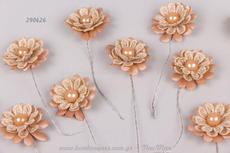 290426 Λουλούδια με σύρμα Χρώμα της άμμου