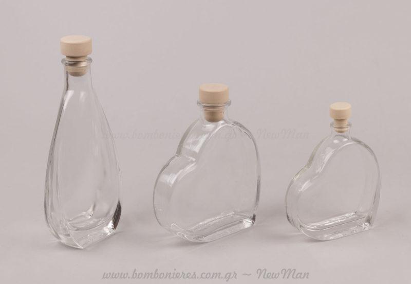 Γυάλινα μπουκάλια με φελλό