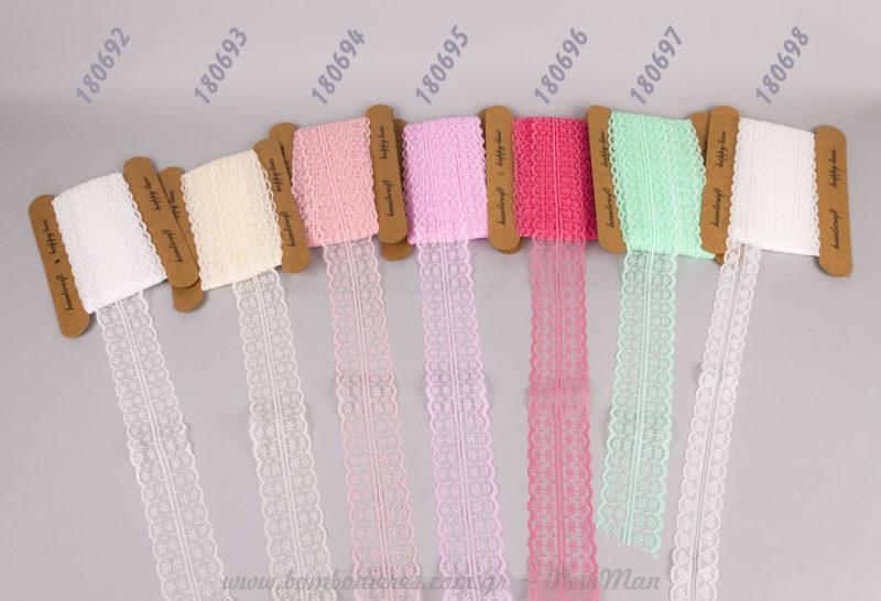 Κορδέλες δαντέλα σε χρώμα