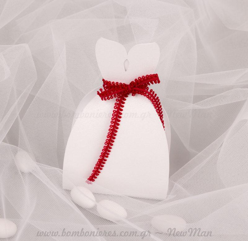 Φόρεμα Νύφης χάρτινο κουτί μπομπονιέρας
