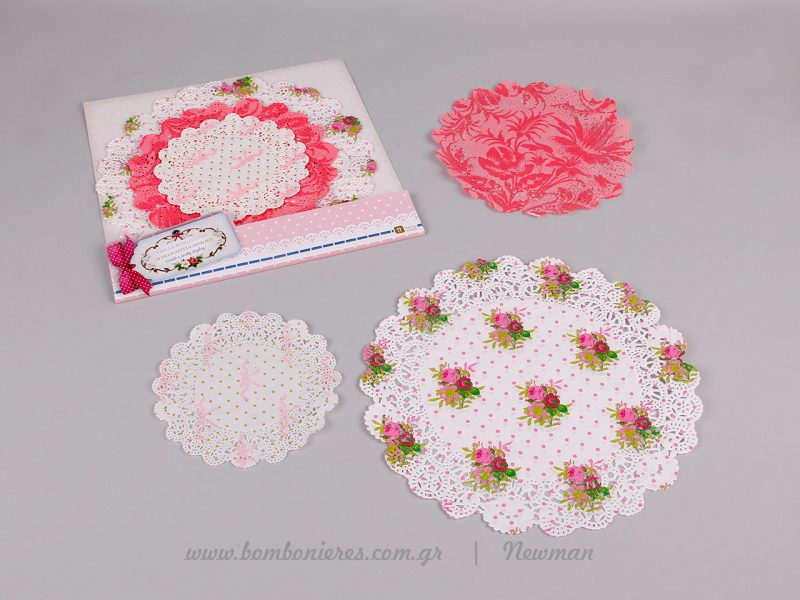 xartina dantelota petsetakia paper doiles floral
