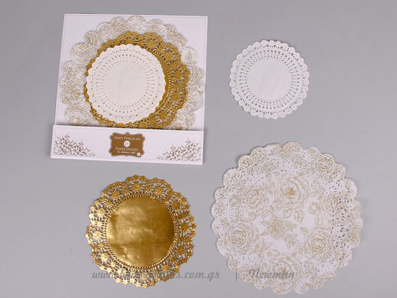 xartina dantelota petsetakia paper doiles gold