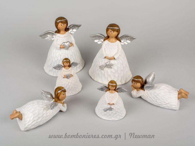 Αγγελούδια λευκά με γυναικείες μορφές aggeloudia lefka
