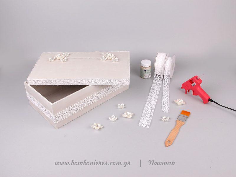 Υλικά χειροτεχνίας για κουτί ευχών