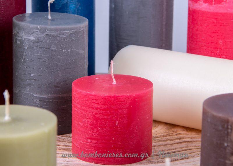 Αρωματικά χειροποίητα κεριά aromatika rustic handmade keria 3 megethi
