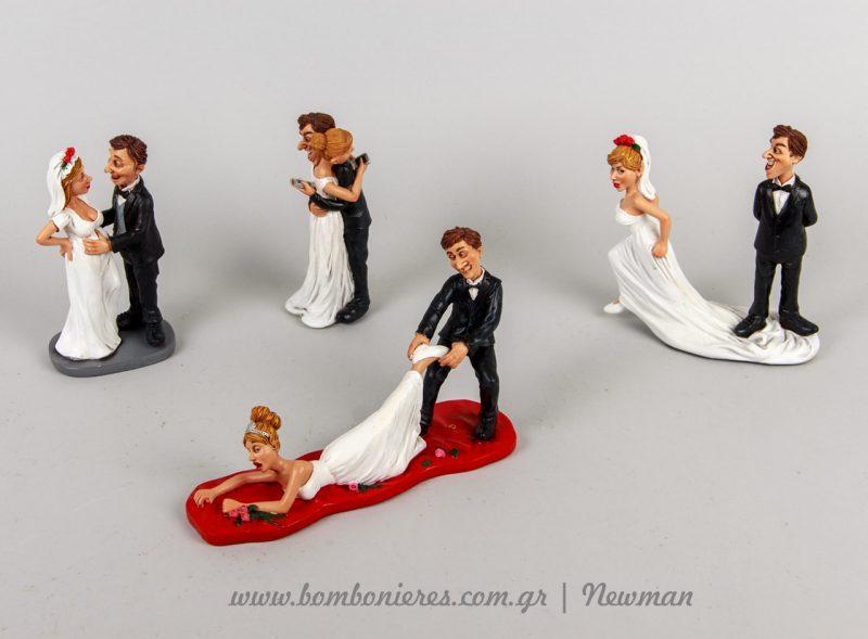Φιγούρες μινιατούρες γαμπρός νύφη για τη γαμήλια τούρτα cake toppers gamilia tourta