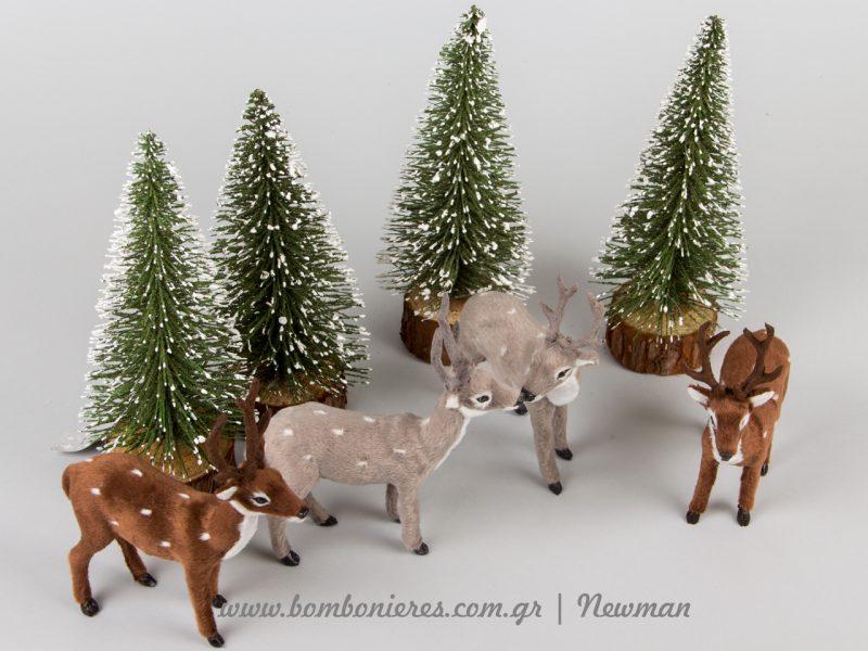 ελαφάκια και έλατα χριστουγεννιάτικα elafakia elatakia xristougenniatika diakosmitika
