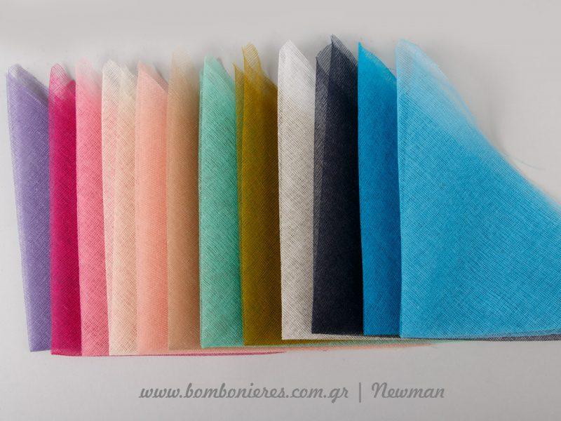 Χρωματολόγιο γάζας για μπομπονιέρες
