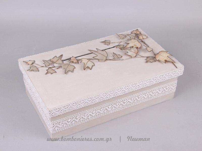 Ξύλινο χειροποίητο κουτί ευχών kouti efxon handmade platanofila