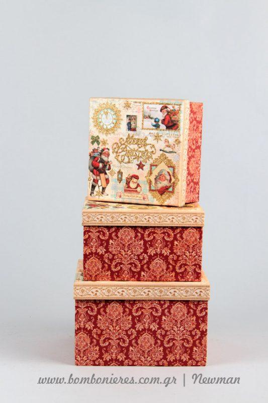 Χριστουγεννιάτικα κουτιά δώρου koutia dorou xristougenniatika newman