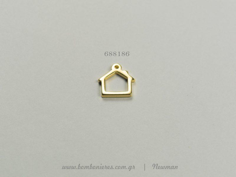 Κρεμαστά μεταλλικά σε σχήμα σπίτι schema spiti kremasta gia gouria