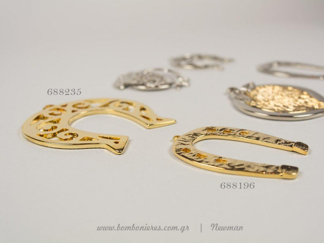 Μεταλλικά πέταλα και ρόδια κρεμαστά kremasta metallika petala rodia