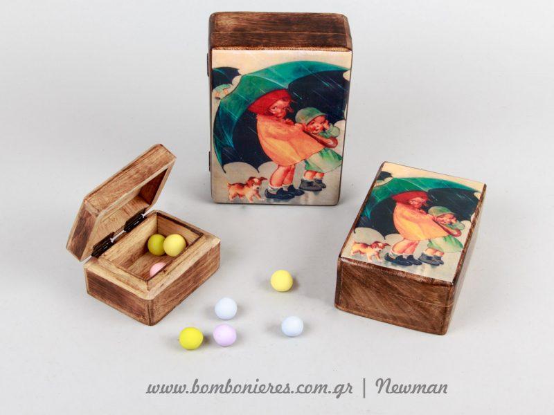 Ξύλινα κουτιά handmade wooden boxes